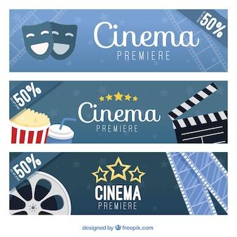 Banners película com elementos audiovisuais