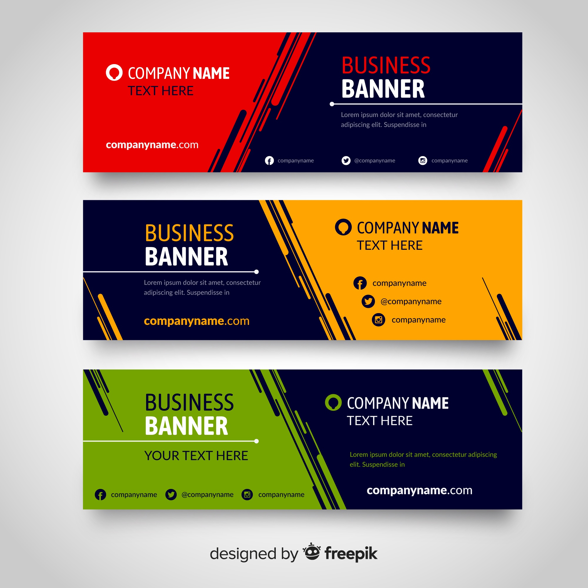 Banners planas
