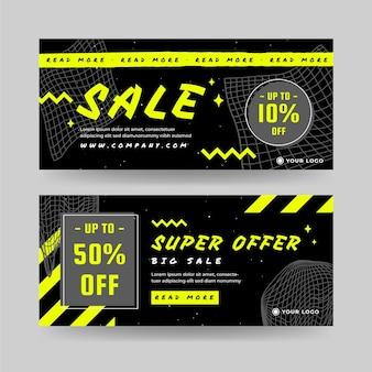 Banners planos de super vendas