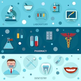 Banners planos médicos