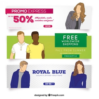 Banners promocionais de compras