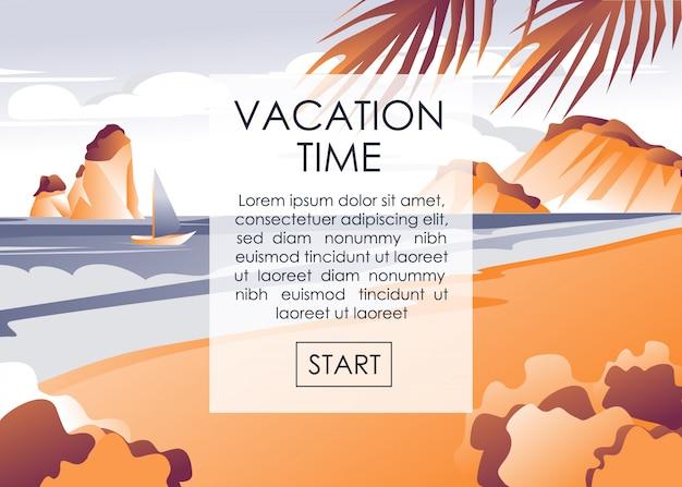 Banners publicitários começam as férias no seacoast