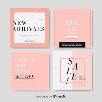 Banners quadrados promoção design