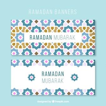 Banners ramadan mosaico