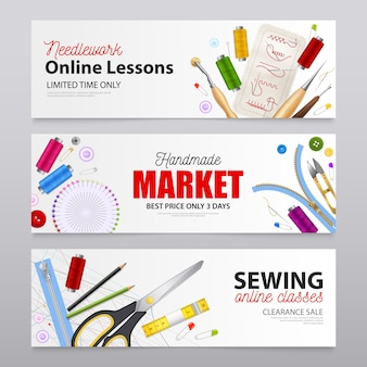 Banners realistas de costura