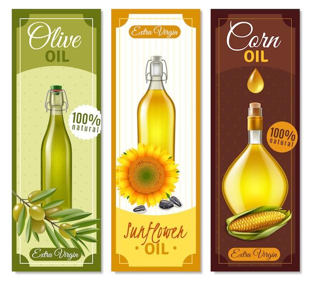 Banners realistas de produtos naturais