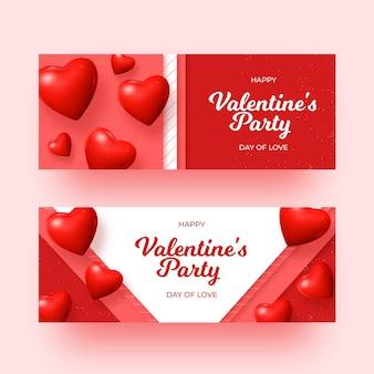 Banners realistas do dia dos namorados