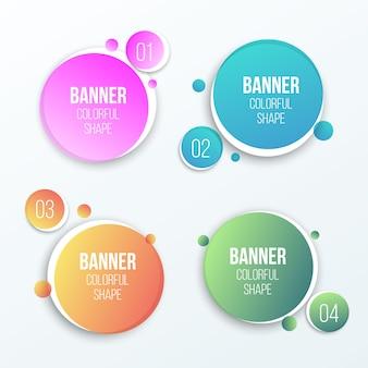 Banners redondos