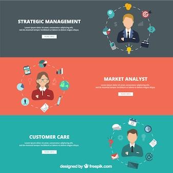 Banners site de negócios