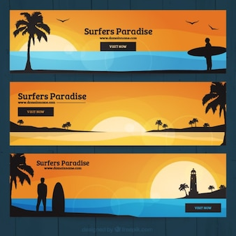 Banners Surf paraíso