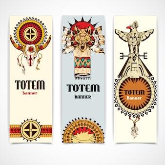 Banners tribais verticais