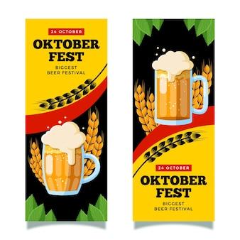 Banners verticais da oktoberfest