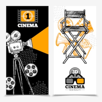 Banners verticais de cinema
