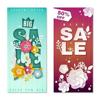 Banners verticais de grande venda