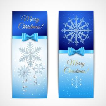 Banners verticais de natal