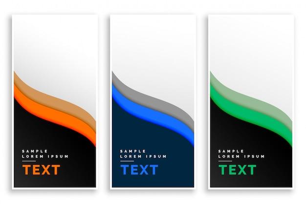 Banners verticais de negócios elegante estilo abstrato
