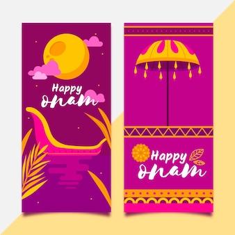 Banners verticais de onam