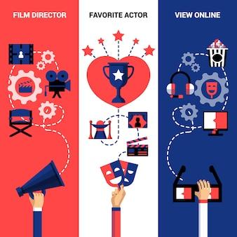 Banners verticais do festival de cinema