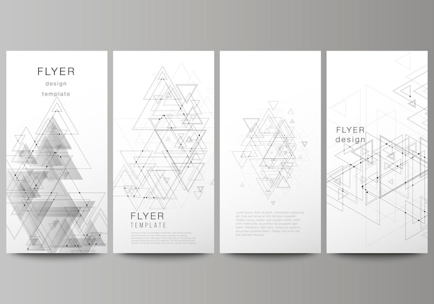 Banners verticais, panfletos de design de modelos de negócios