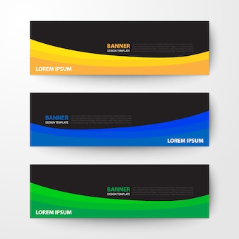 Banners web design modelo abstrato de fundo vector