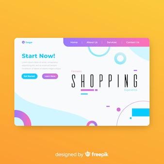 Banners web modernos com design plano