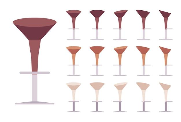 Banqueta de bar de pedestal
