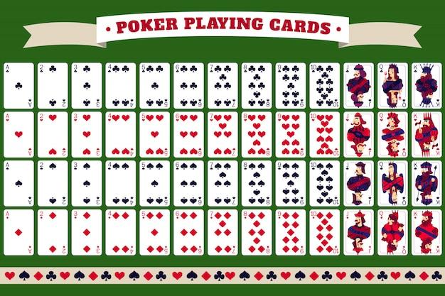 Baralho completo de cartas de jogar pôquer