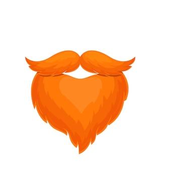 Barba e bigode da oktoberfest. traje masculino. símbolo do festival de cerveja oktoberfest. ilustração vetorial no estilo cartoon.