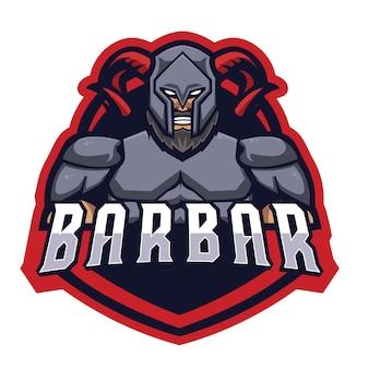 Barbar knight e sports logo
