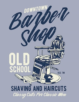Barbearia no centro