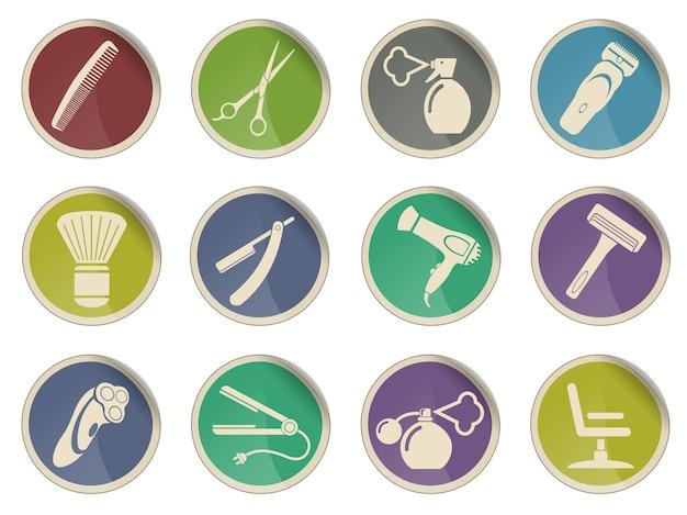 Barbearia. simplesmente símbolo para ícones da web