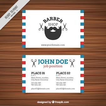 Barber cartão de loja