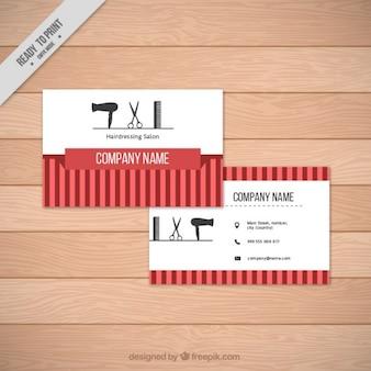 Barber elementos loja cartão de visita