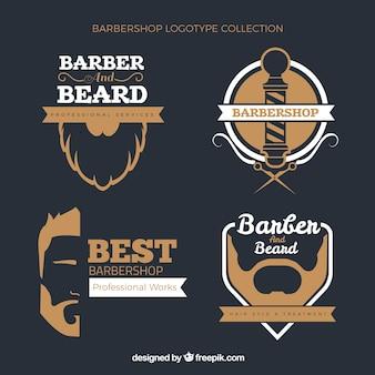 Barber modelo de logotipos no estilo do vintage
