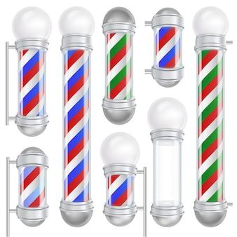 Barber shop pole vector. bom para design, branding, publicidade. espaço para sua publicidade. isolado na ilustração de fundo branco