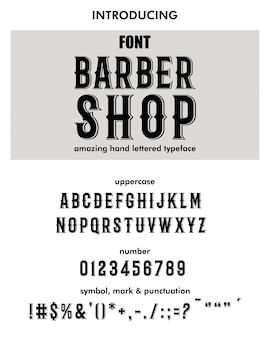 Barber shop typeface