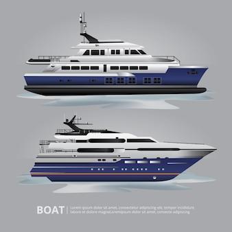 Barco de transporte iate turístico para viajar