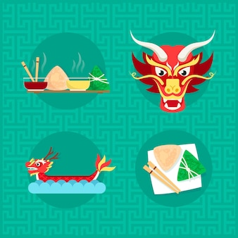 Barco-dragão zongzi