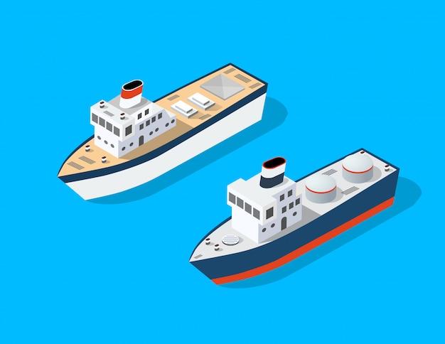 Barco isométrico de transporte