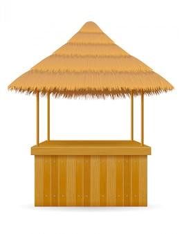 Barra de barraca de praia para férias de verão em resort nos trópicos