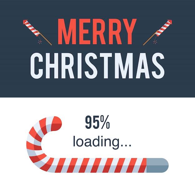 Barra de carregamento feliz natal