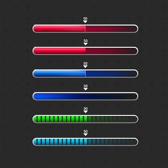 Barra de carregamento para o aplicativo do jogo