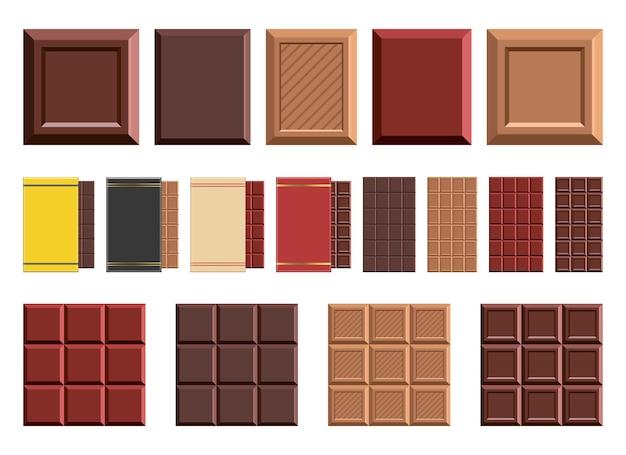 Barra de chocolate, isolada no fundo branco