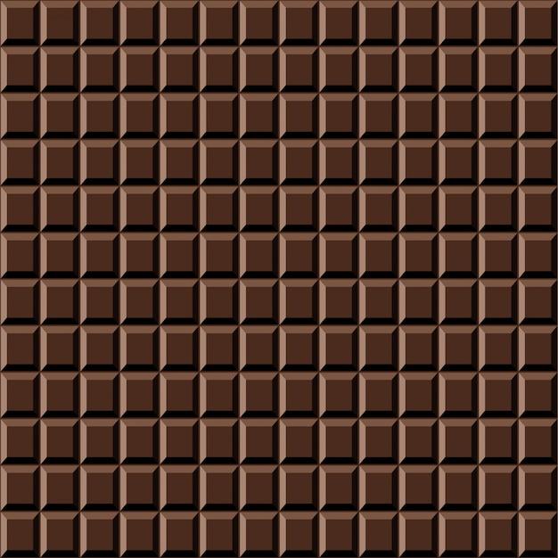 Barra de chocolate sem costura padrão textura doce