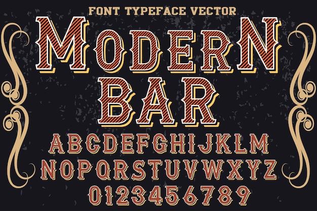 Barra de desenho de tipografia de efeito de sombra de fonte