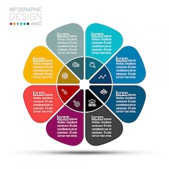 Barra de grupos de modelo do negócio círculo forma infográfico.