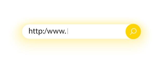 Barra de pesquisa para a interface do usuário e endereço de pesquisa do site e ícone da barra de navegação