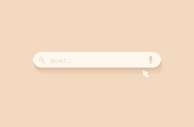 Barra de pesquisa para sites e aplicativos de interface do usuário para celular