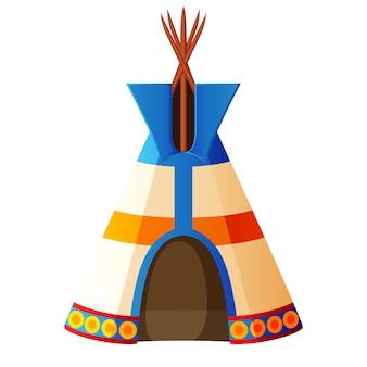 Barracas indianas decoradas com ornamentos