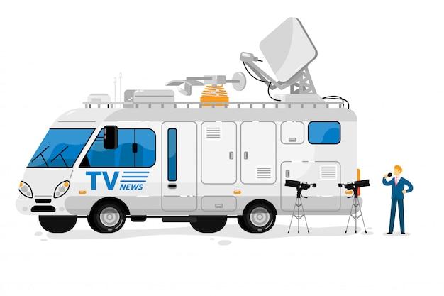 Barramento de transmissão. comunicação de radiodifusão